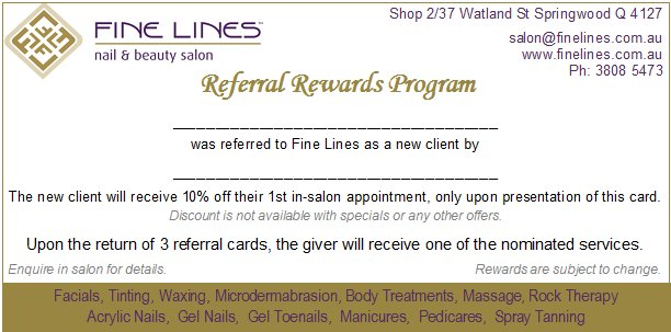 referral rewards card
